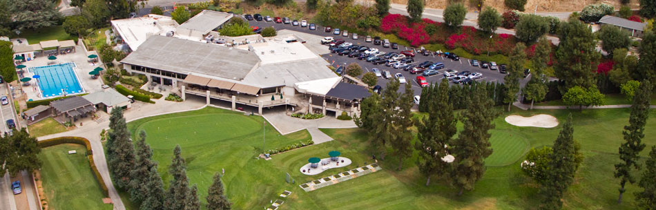 Aerial image of Glendora Country Club in Glendora, CA.